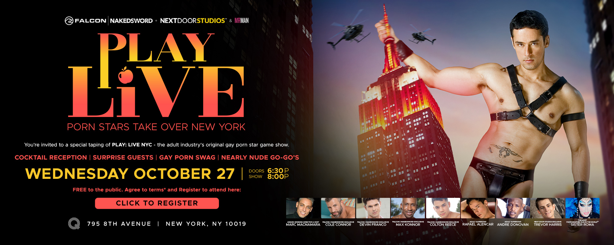 Play Live - Porn stars take over new york